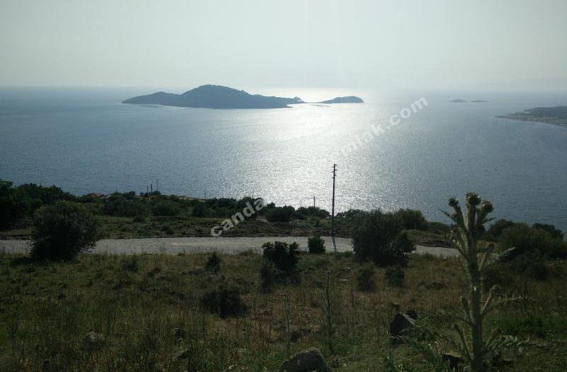 Çandarlı Eyko da Müthiş Adalar Manzaralı Arsa
