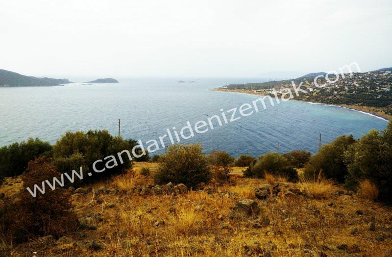 Çandarlı Eyko Adalar Manzaralı Satılık Arsa